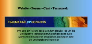 Wir sind ein Forum dass sich zum großen Teil um die Dissoziative Identitätsstörung handelt aber auch Menschen mit anderen physischen Störungen sind bei uns herzlich willkommen